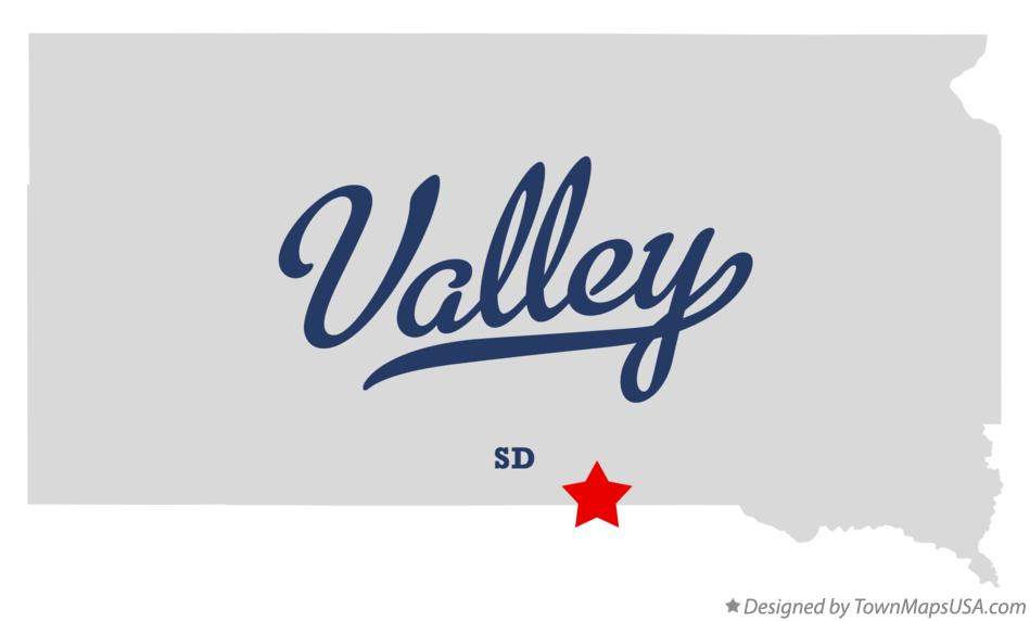 Map of Valley South Dakota SD