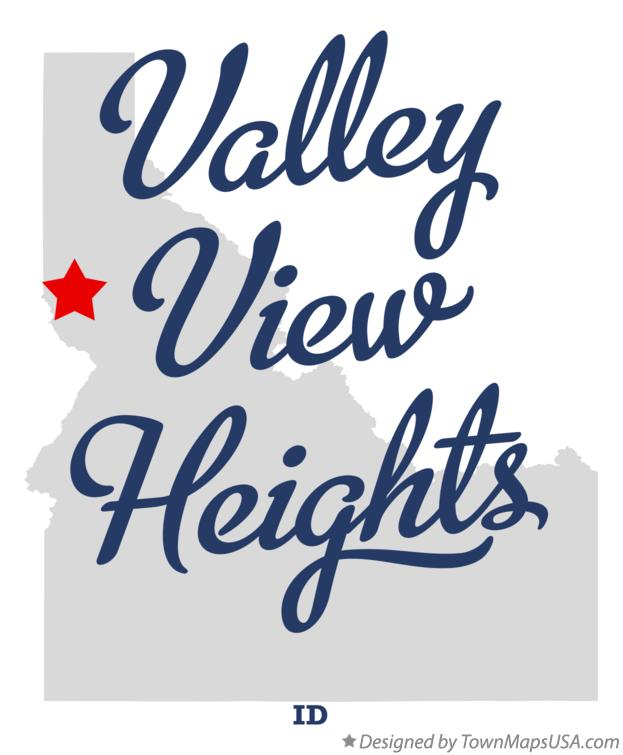 Map of Valley View Heights Idaho ID