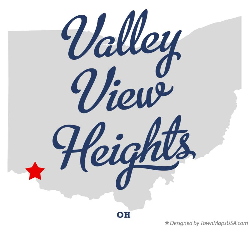 Map of Valley View Heights Ohio OH