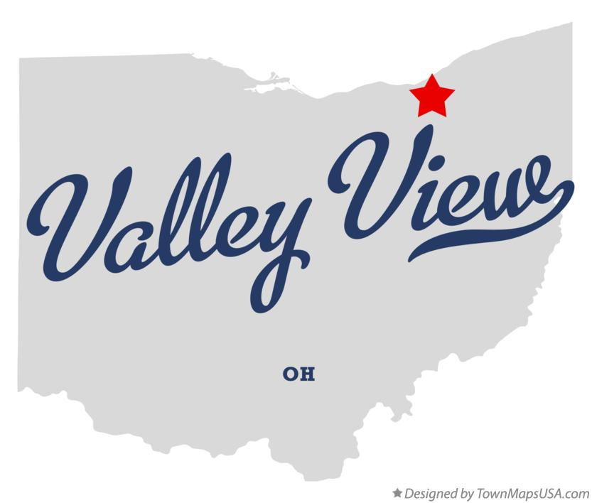 Map of Valley View Ohio OH