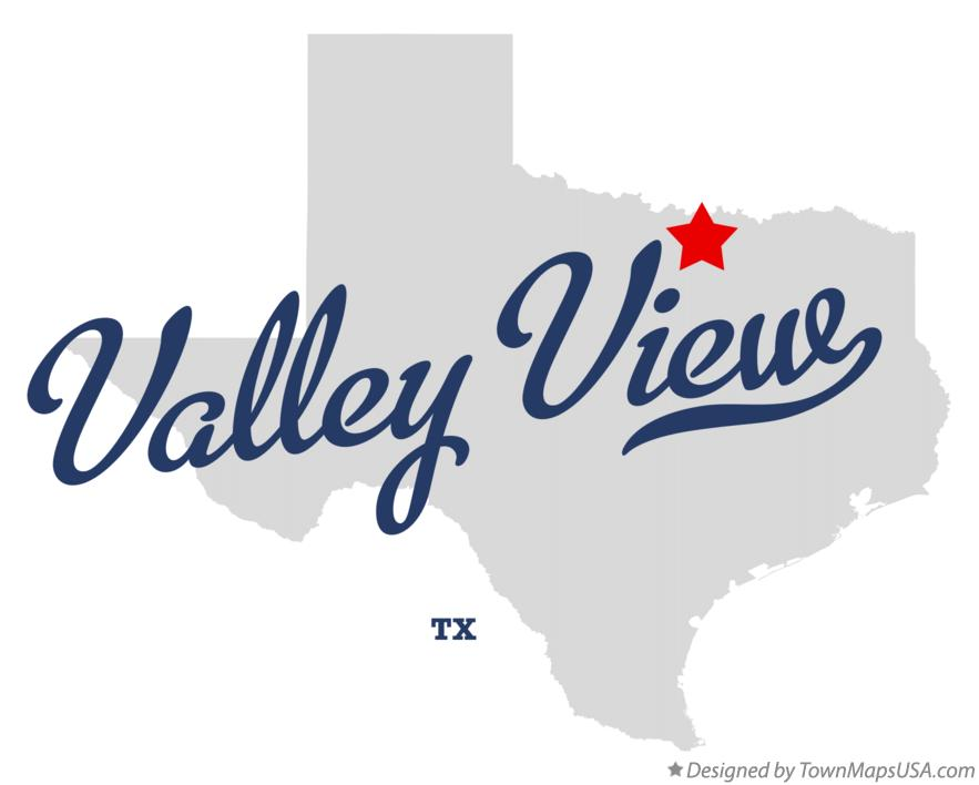 Map of Valley View Texas TX