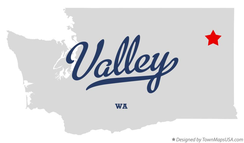 Map of Valley Washington WA