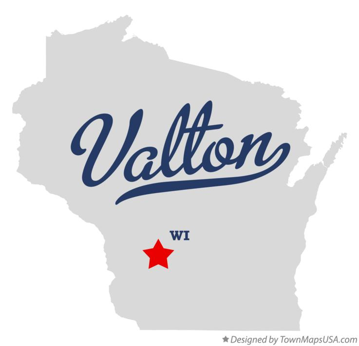 Map of Valton Wisconsin WI