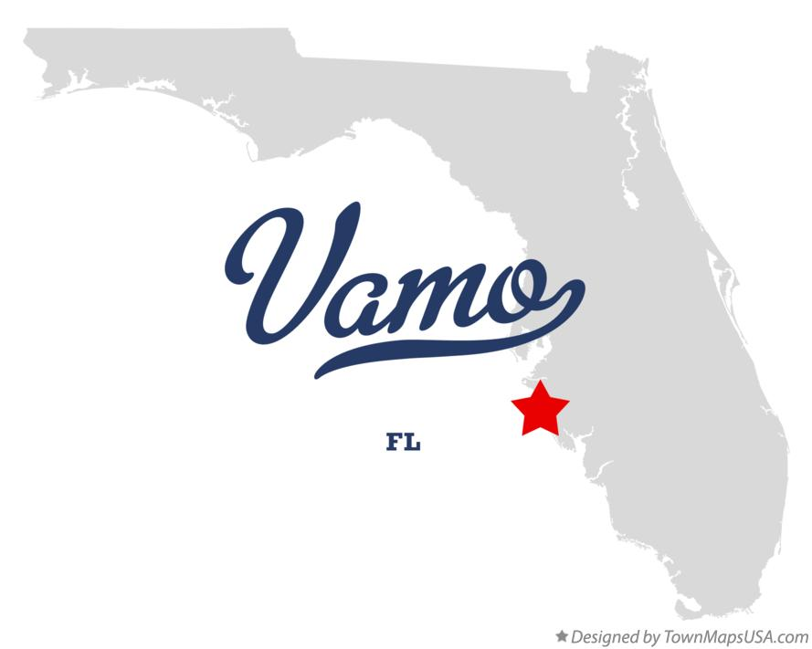 Map of Vamo Florida FL