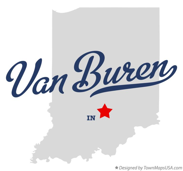 Map of Van Buren Indiana IN