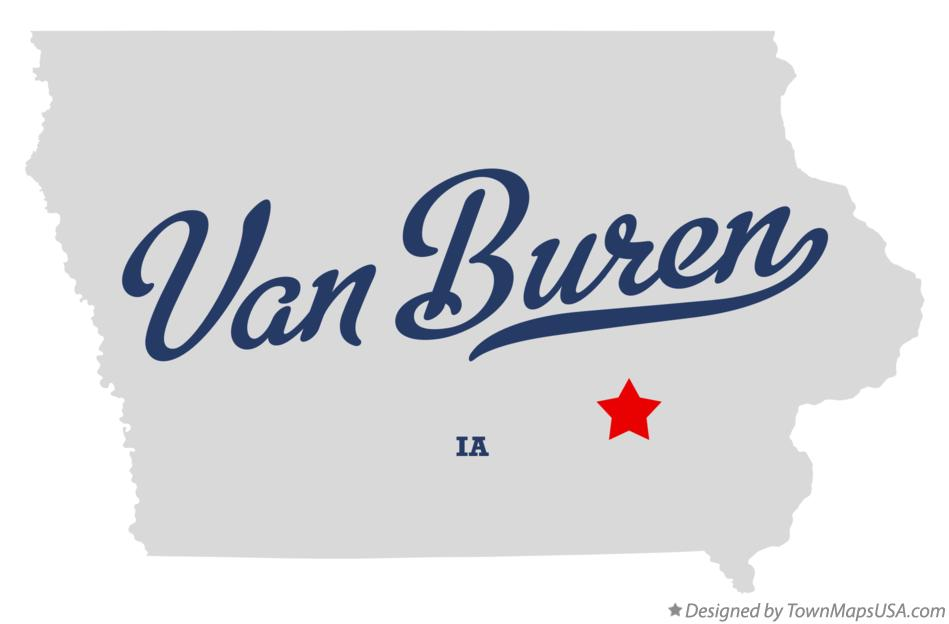 Map of Van Buren Iowa IA