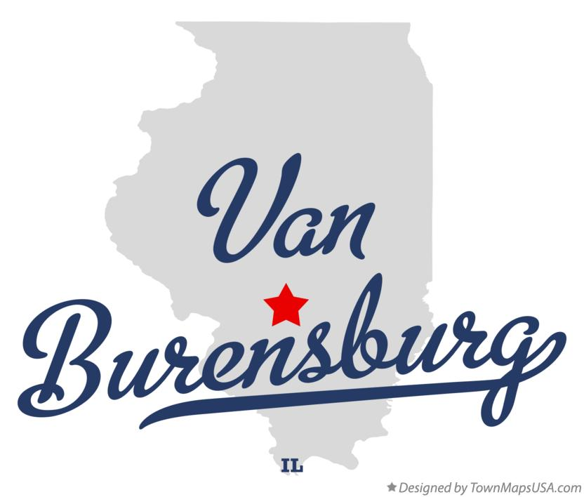 Map of Van Burensburg Illinois IL