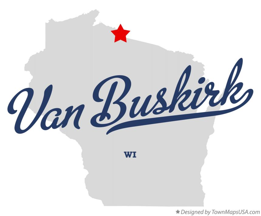 Map of Van Buskirk Wisconsin WI