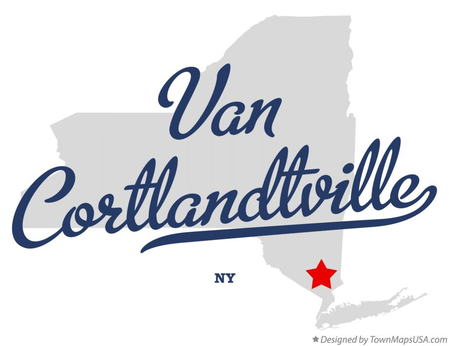 Map of Van Cortlandtville New York NY