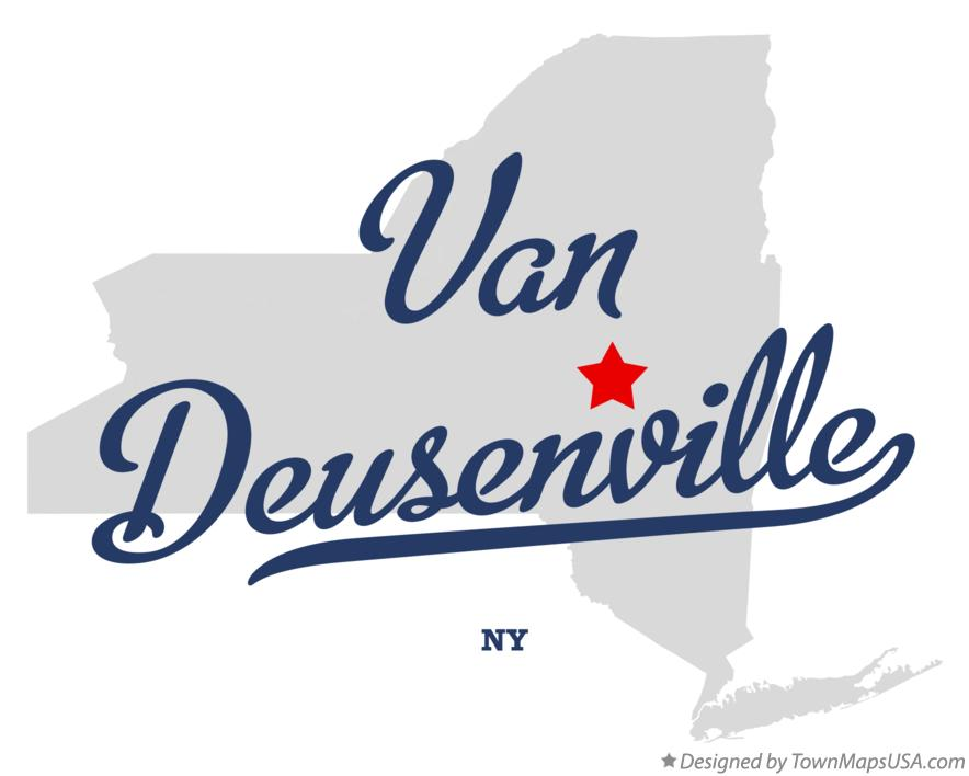 Map of Van Deusenville New York NY
