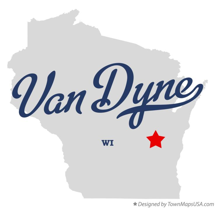 Map of Van Dyne Wisconsin WI