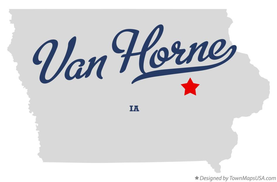 Map of Van Horne Iowa IA