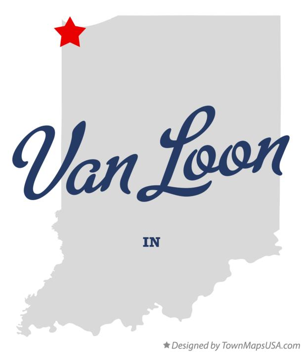 Map of Van Loon Indiana IN