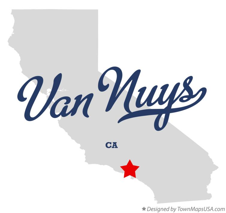 Map of Van Nuys California CA