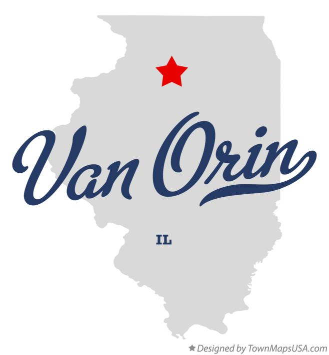 Map of Van Orin Illinois IL