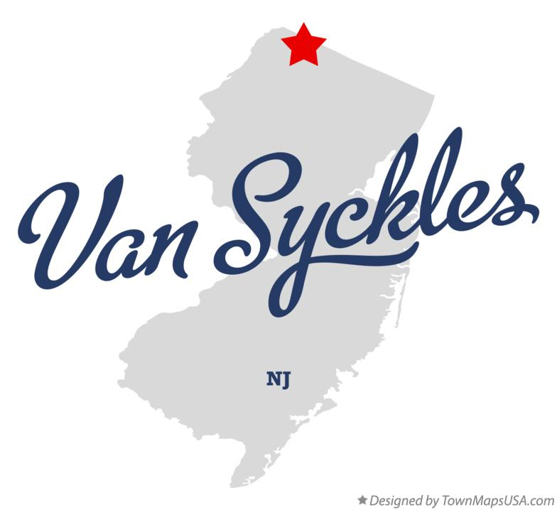 Map of Van Syckles New Jersey NJ