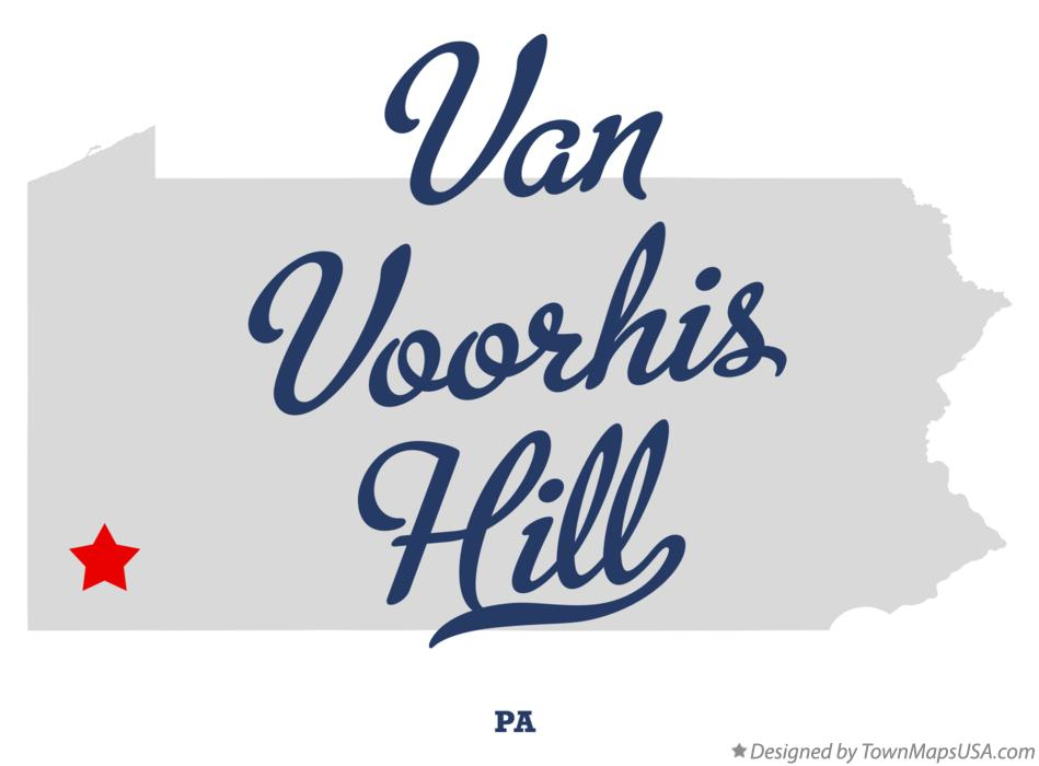 Map of Van Voorhis Hill Pennsylvania PA