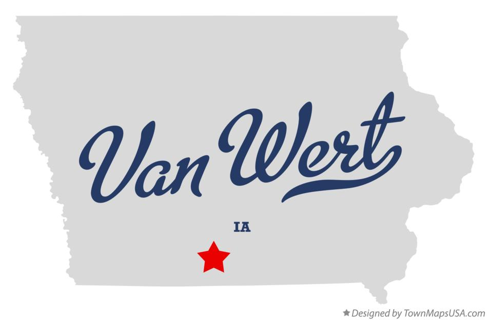 Map of Van Wert Iowa IA