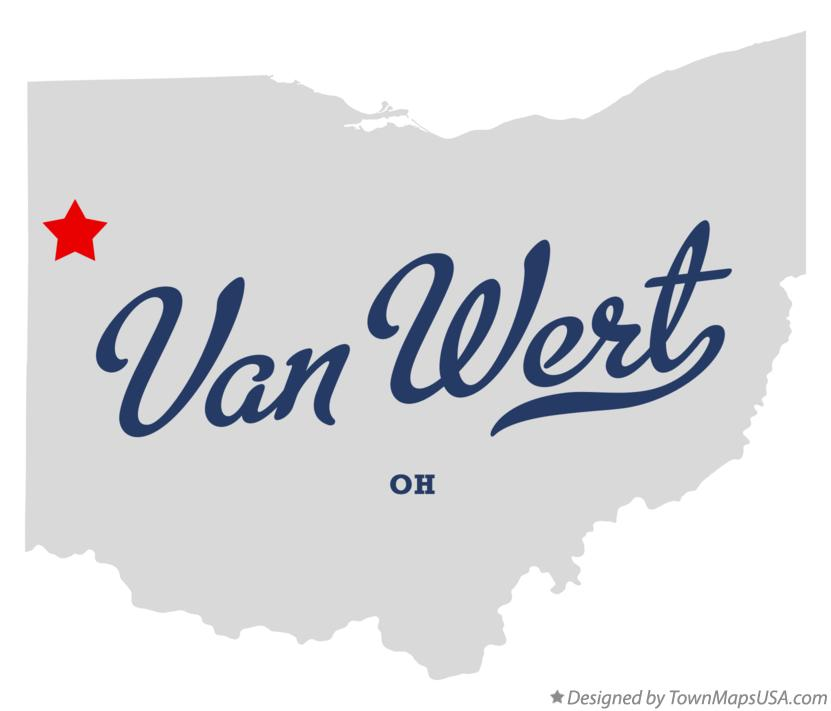 Map Of Van Wert Oh Ohio