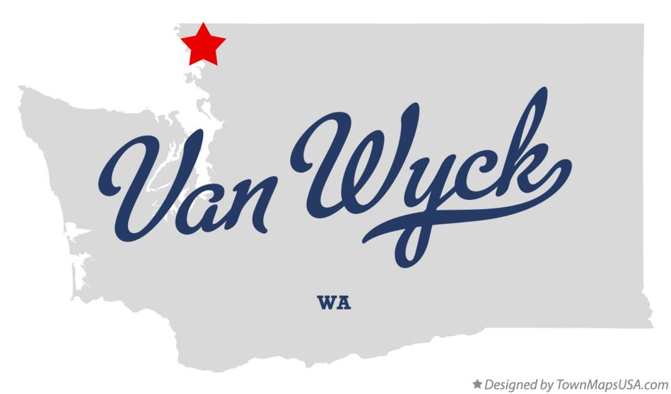 Map of Van Wyck Washington WA