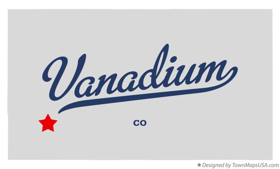 Map of Vanadium Colorado CO