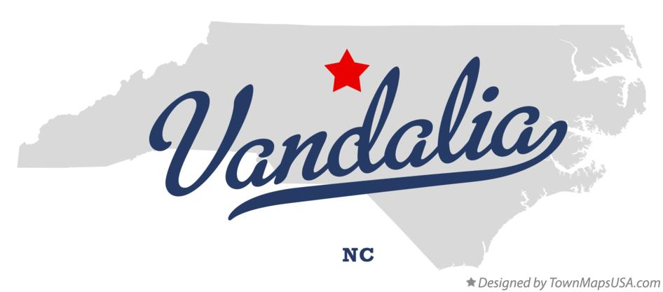 Map of Vandalia North Carolina NC