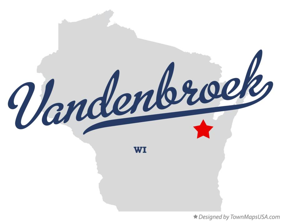 Map of Vandenbroek Wisconsin WI