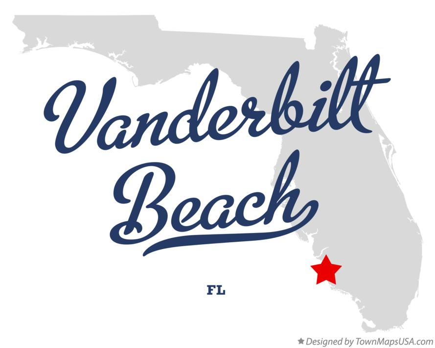 Map of Vanderbilt Beach Florida FL