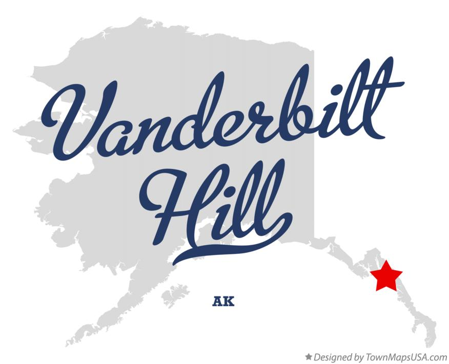 Map of Vanderbilt Hill Alaska AK