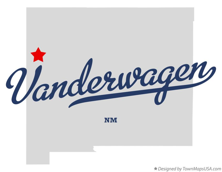 Map of Vanderwagen New Mexico NM