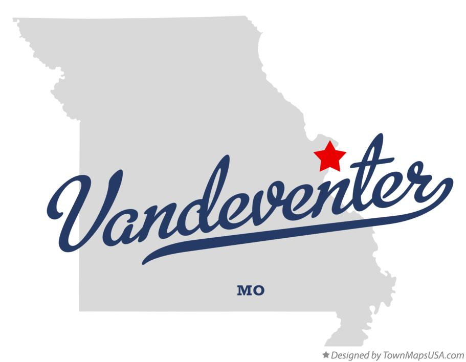 Map of Vandeventer Missouri MO