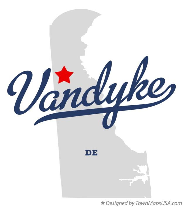 Map of Vandyke Delaware DE