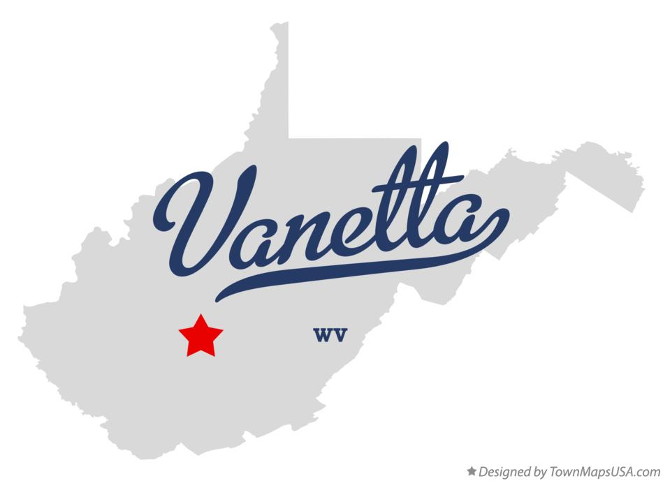 Map of Vanetta West Virginia WV