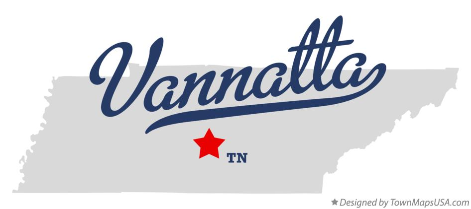 Map of Vannatta Tennessee TN