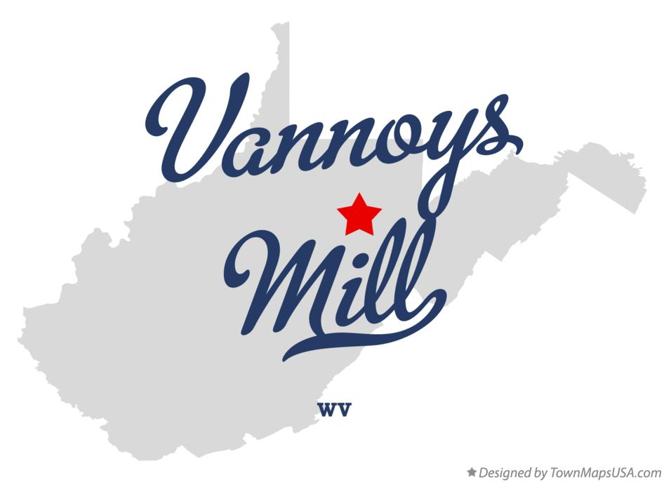 Map of Vannoys Mill West Virginia WV