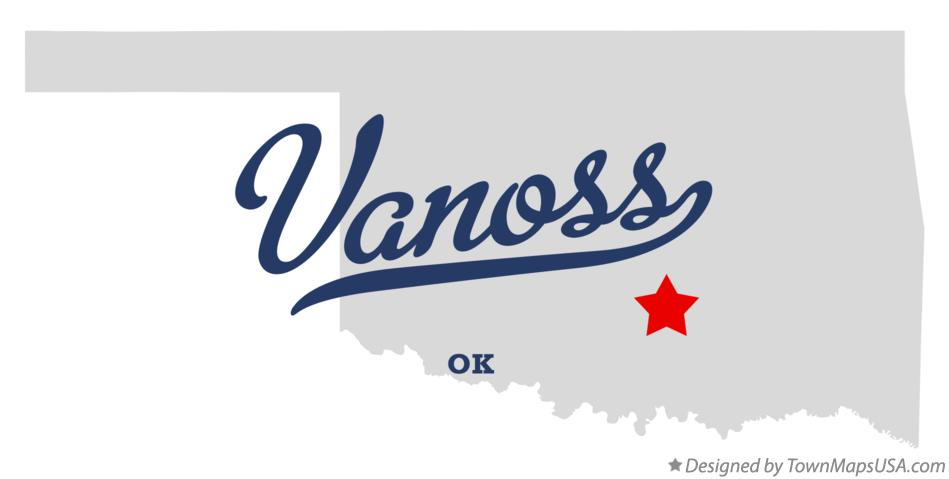 Map of Vanoss Oklahoma OK