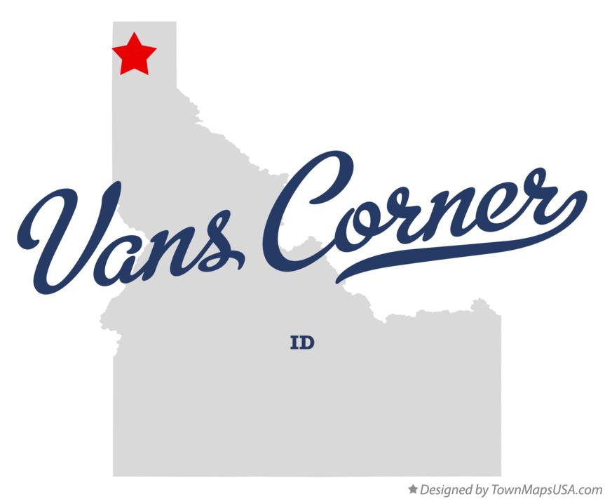 Map of Vans Corner Idaho ID