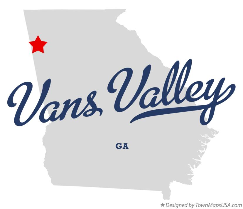Map of Vans Valley Georgia GA