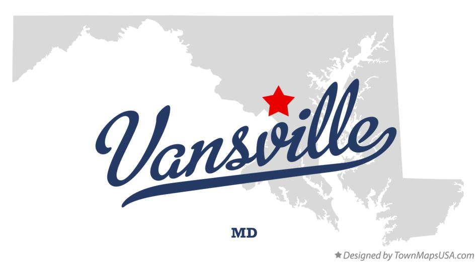 Map of Vansville Maryland MD