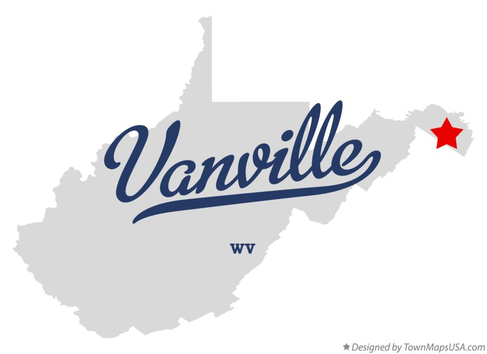Map of Vanville West Virginia WV