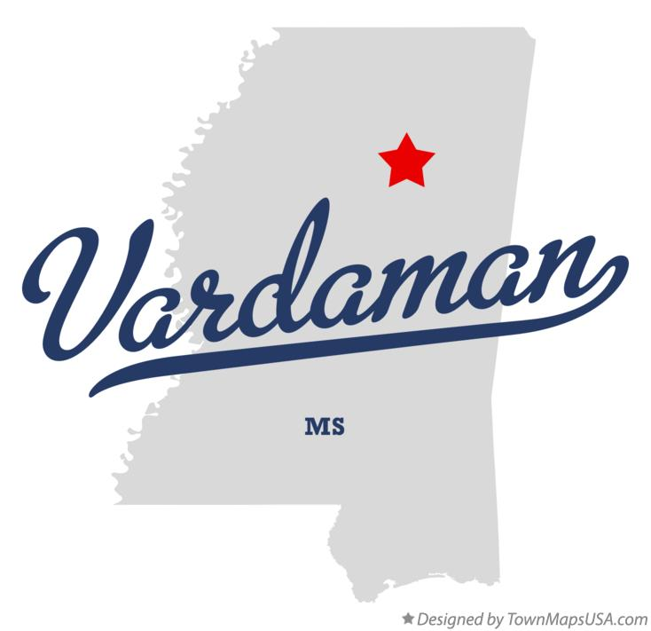 Map of Vardaman Mississippi MS