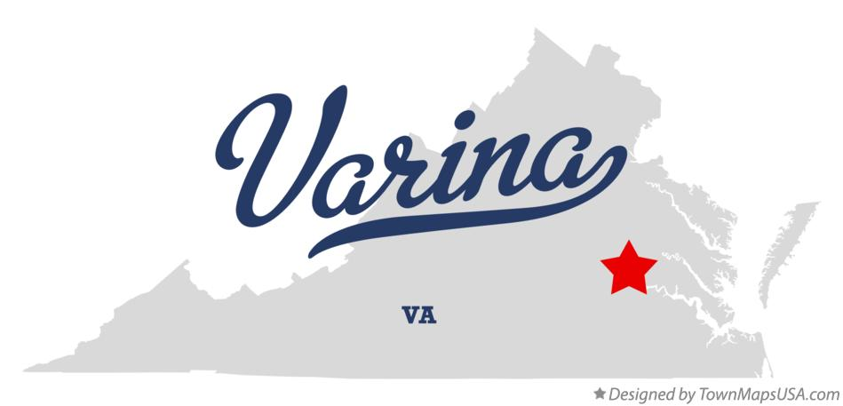 Map of Varina Virginia VA