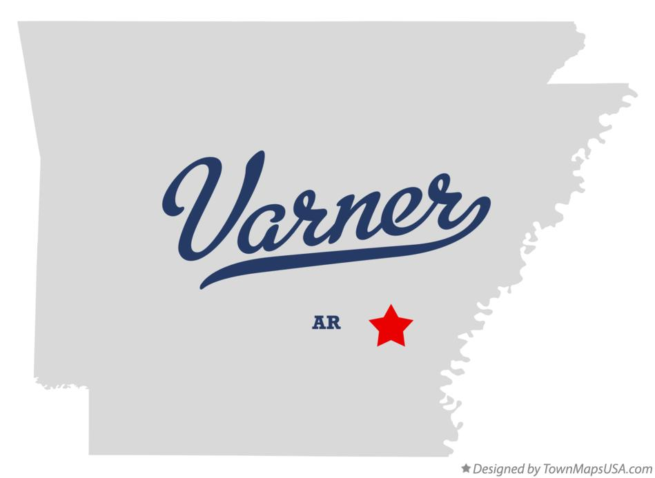 Map of Varner Arkansas AR