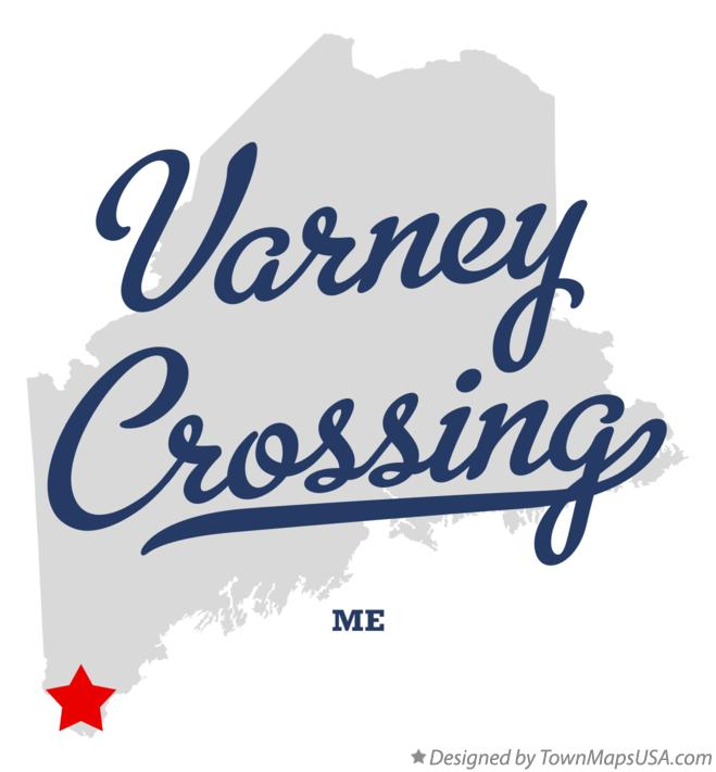 Map of Varney Crossing Maine ME