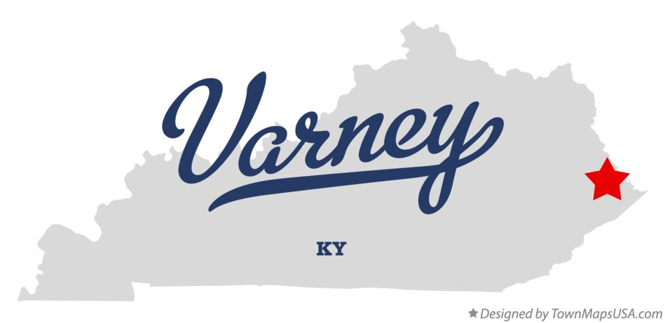 Map of Varney Kentucky KY