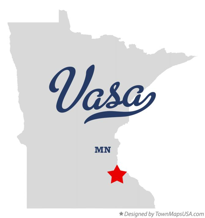 Map of Vasa Minnesota MN