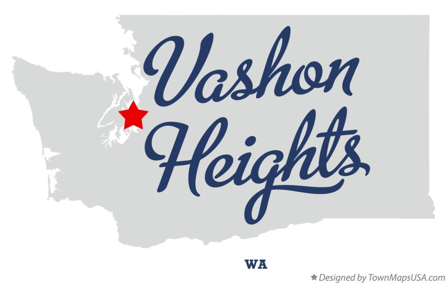 Map of Vashon Heights Washington WA