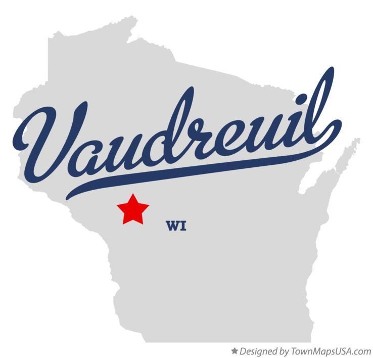 Map of Vaudreuil Wisconsin WI