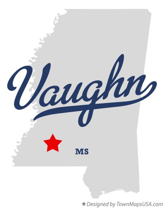 Map of Vaughn Mississippi MS