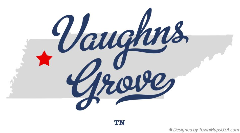 Map of Vaughns Grove Tennessee TN